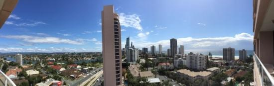 Crowne Plaza Surfers Paradise: Panaromic View looking North