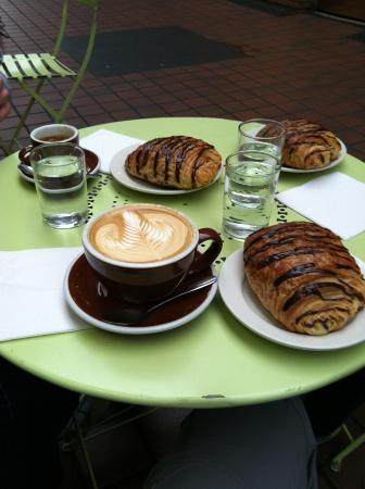 Comet Coffee: Coffee and chocolate croissants!