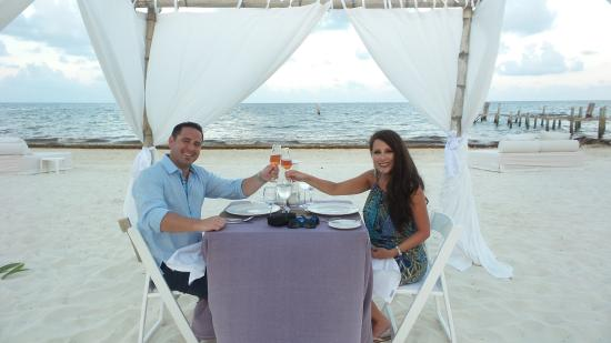 Private Dinner On The Beach Picture Of Excellence Riviera Cancun