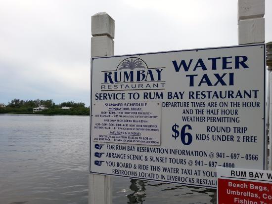 Rum Bay Restaurant Pick Up The Water Taxi Here Your Car Is Left In