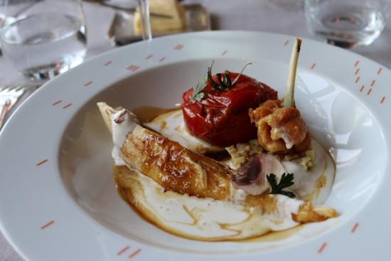 Corn Fed Chicken Fricassee Tomato Stuffed With Tomato Jules Verne
