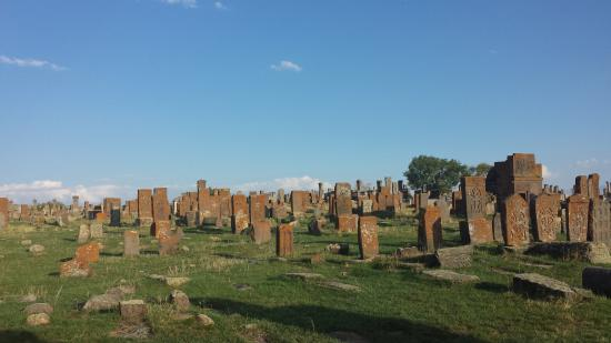Friedhof Noratus: many of the khachkars