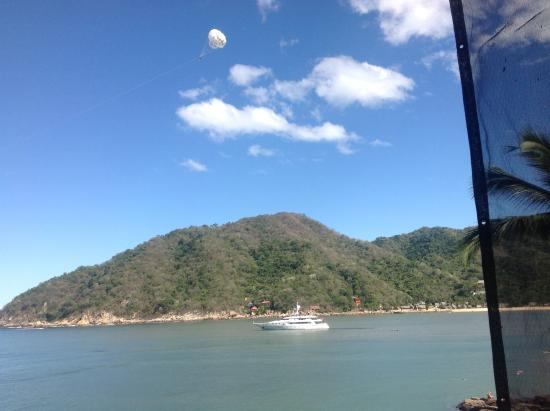 Casa Pericos: Another spectacular 150' yacht also loves Yelapa!
