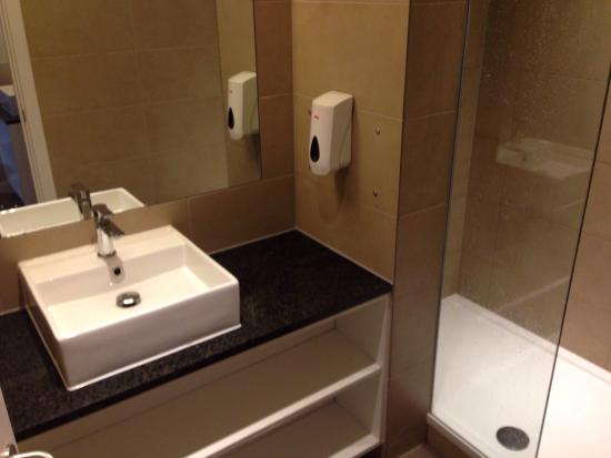 . Modern and clean room with separate private shower and toilet