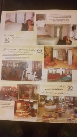 foto dépliant hotel Napoleon di susa