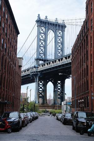 Empire State Building Framed By Manhattan Bridge