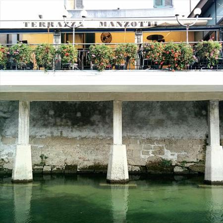 La terrazza del ristorante - Picture of Terrazza Manzotti, Canonica ...