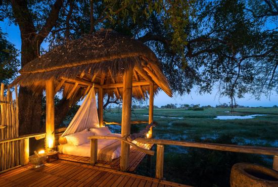 Jao Camp: Private Sala on the Deck at Jao