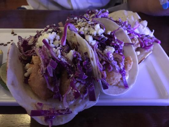 Gio by Gio Gastro Bar : Mahi Mahi fish tacos. Good portion, lots of fish, flavorful toppings and hot sauce on the side.
