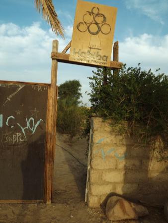 Habiba Beach Lodge: Gate to Habiba organic farm