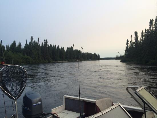 Chibougamau, Canada: View from the dock at the Gite.