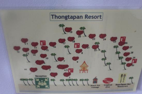 Thongtapan Resort: Схема отеля