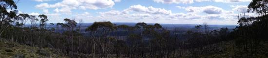 View from one of the lookouts on the top of Mount Macedon