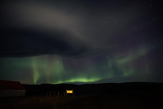 Glacier View Guesthouse : Northern lights photo taken from the room