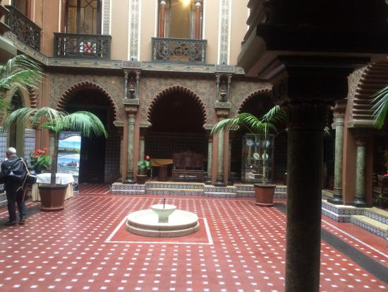 Courtyard Floor Decorated With Moor Style Tiles Picture Of Casa Do Alentejo Lisbon Tripadvisor