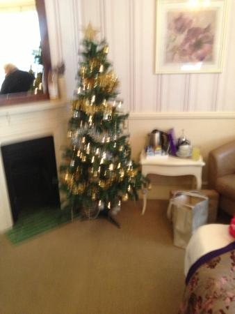 Blyth Hotel: Christmas tree in Southwold Room such a nice touch
