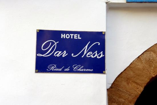 Dar Ness: sign posted nearby
