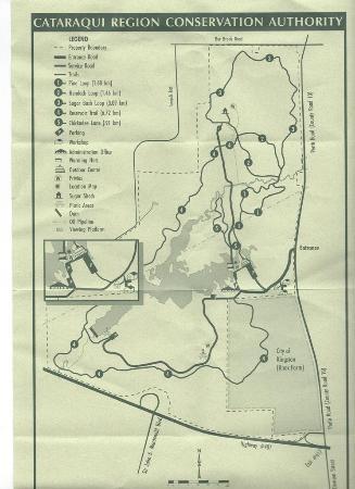 Little Cataraqui Creek Conservation Area: A Map