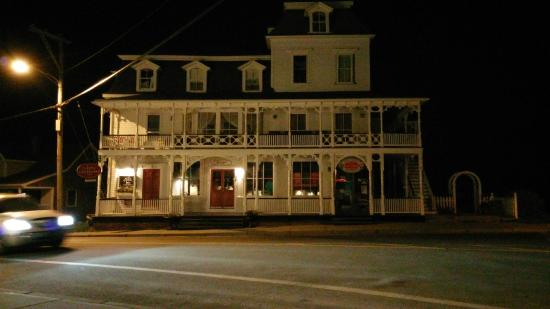 The Inn at Old Harbor at night