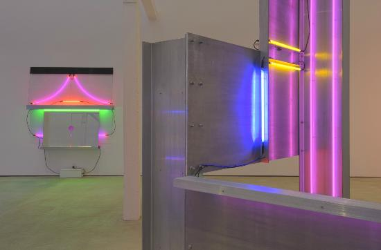 "Installation View, ""Keith Sonnier: Early Neon,"" 9 May - 29 Nov. 2015, Hall Art Foundation 