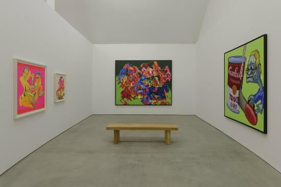 "Installation View, ""Peter Saul,"" 9 May - 29 Nov. 2015, Hall Art Foundation 