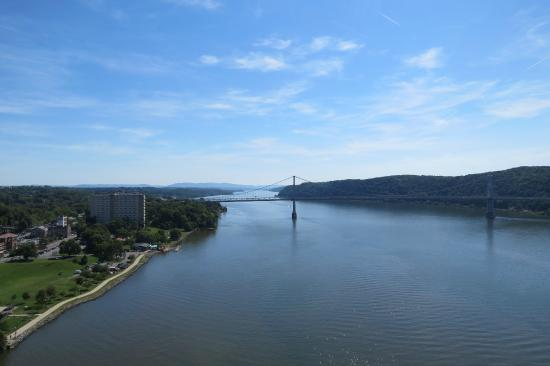 Highland, NY: The Hudson from the Mid-Hudson Bridge