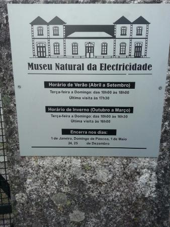 Seia, Portugal: Placa do Museu Natural da Electricidade
