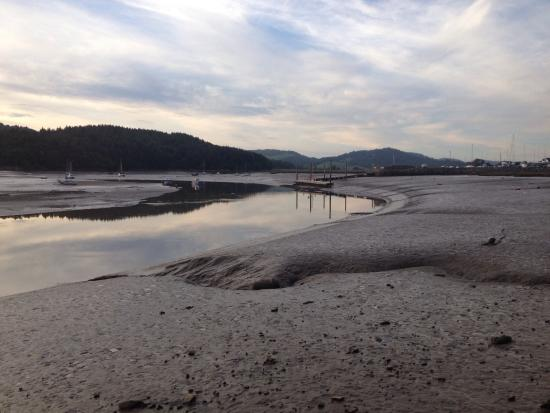 A view of the Kippford shore from just outside the hotel.