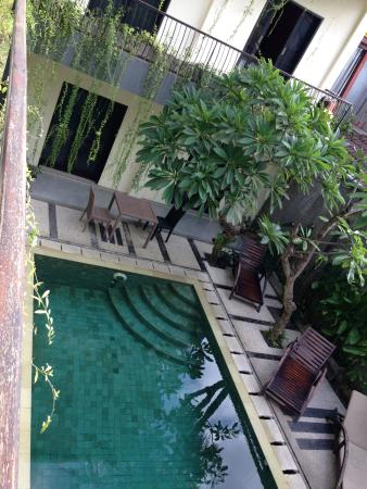 ZUK Hotel : from corridor 2nd floor to swimming pool on ground floor