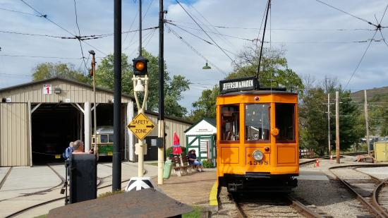 Pennsylvania Trolley Museum: Starting point of the trip
