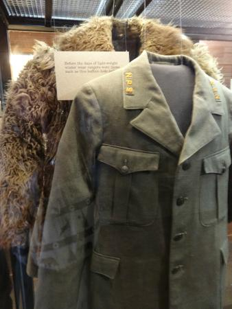 Museum of the National Park Ranger: Winter coats for the early Yellowstone park rangers