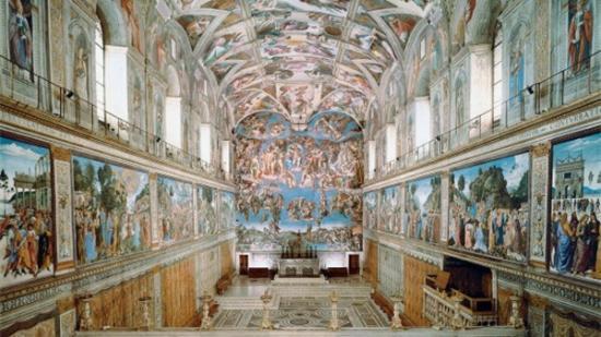 Chapelle sixtine le jugement dernier photo de cappella for Exterieur chapelle sixtine