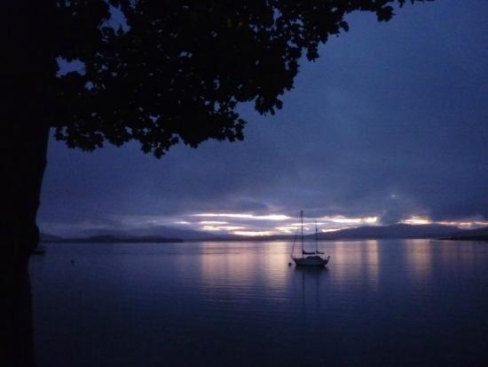 About Scotland: Evening mood - view from Oyster Inn (Oban)