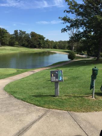Bear Creek Valley Golf Club : You need a good drive to clear the lake from the tee on #1.