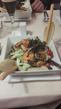 Hafenhaus: Салат цезарь с креветками