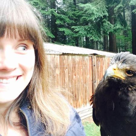 Raptors Ridge: Selfie with my hawk Victor!