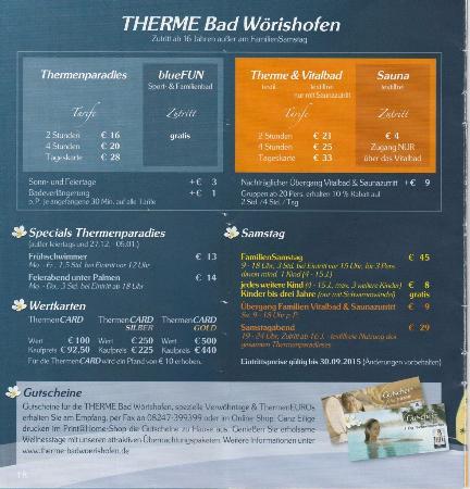 THERME Bad Worishofen (thermal spa): Цены THERME Bad Worishofen