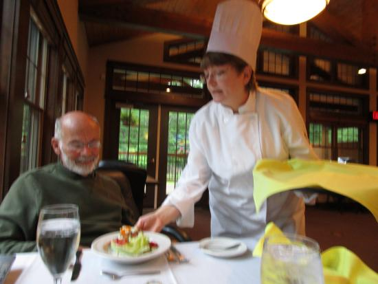 The Rockwell Lake Lodge: gourmet meals