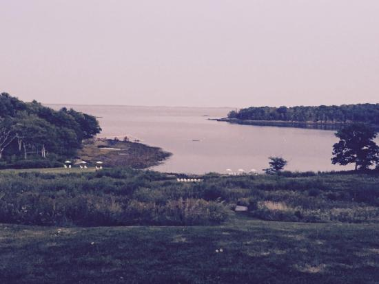 Rockport, Maine: View from room and patio.