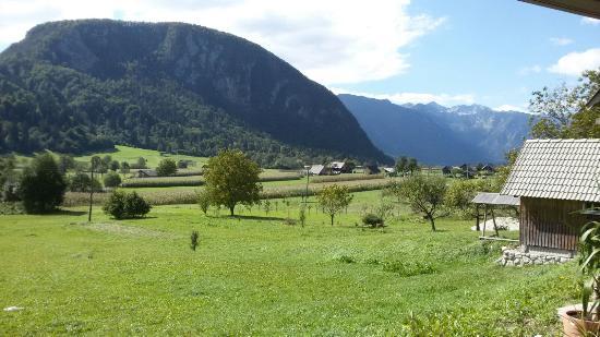 Srednja vas v Bohinju, Eslovenia: View from the balcony