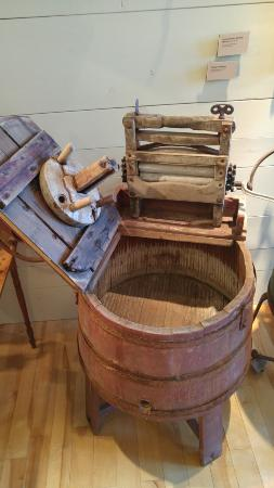 Old (1915) wringer washer at North Highlands Community Museum, Cape Breton Island, Canada
