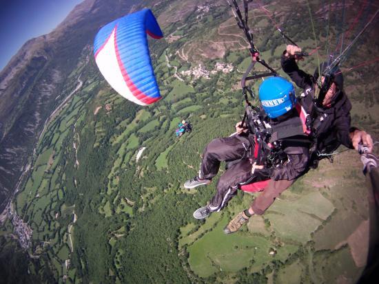 Castejon de Sos, Espagne : view from the air