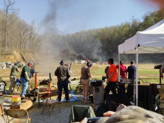 West Point, KY: Part of firing line during shoot