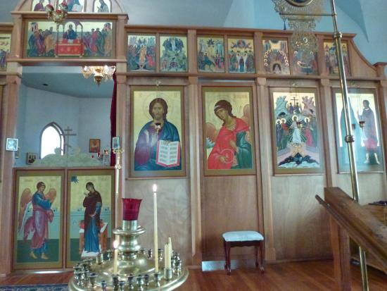 Holy Resurrection Russian Orthodox Church: Inside close up