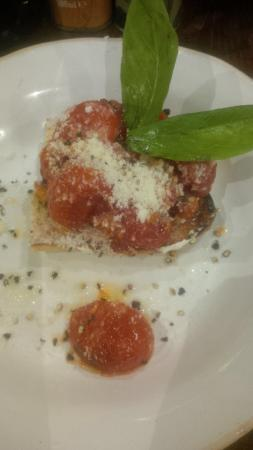 Don't blink, you might miss the bruschetta tiny portion