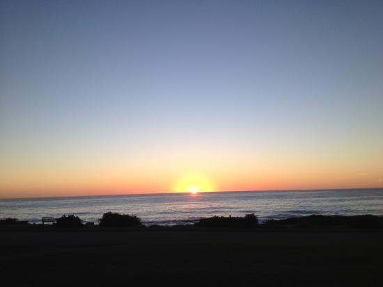 Ocean House Hotel at Bass Rocks: Watched an incredible sunrise on our patio!