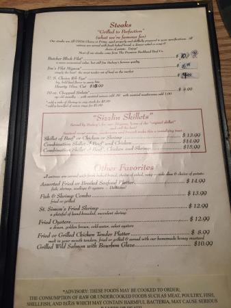 Jim Stalvey S Menu