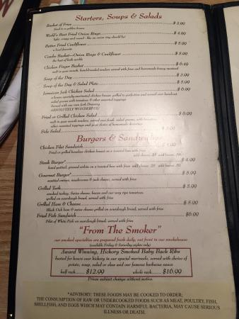 menu picture of jim stalvey s covington tripadvisor