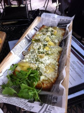 Little Compton, Род Айленд: Flatbread pizza