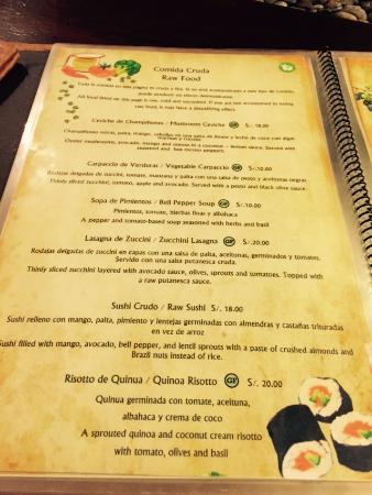 Green Point My Vegan Restaurant Menu